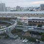 ●部屋から@コンフォートホテル岐阜  朝になりました。 部屋からJR岐阜駅です。 もう街は動いています。