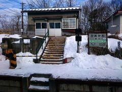 途中、巷ではとっても有名な秘境駅でもあります、姫川駅を一枚パチリ☆ 2017年のダイヤ改正で廃止になってしまう、残念な駅でもあるんですよね