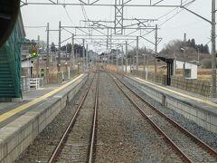 駒ヶ嶺駅。 ここは津波の被害はなかったようで、以前の形のままで復旧した。