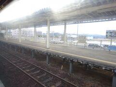 角田駅。 角田市の中心からは少し外れている。