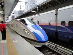 東京駅8時36分、かがやき505号で長野駅。上野、大宮しか泊まりません。早いです1時間14分。はやぶさタイプです。