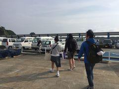 ジェット船で約3と少し、新島に到着! 片道7000円程度。  船酔いもなくてよかった!
