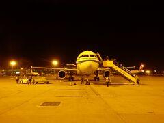 北京空港に到着しました そうでなくても乗り継ぎ時間が短いのに、なんと沖止めの刑(-_-;)