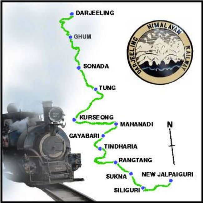 Image result for ダージリン鉄道 地図