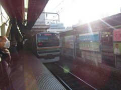 藤沢駅にて。東海道本線小田原行き普通。