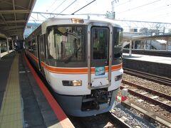 富士駅にて。特急「ふじかわ3号」甲府行き