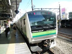 八王子駅にて。横浜線桜木町行き快速