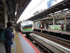 横浜駅にて。湘南新宿ライン経由国府津ゆき