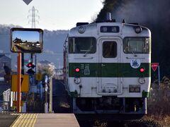 宇都宮駅を出発した烏山線のキハ40形に乗って、先ず最初に下車してみたのは下野花岡駅