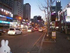 儒城(ユソン)温泉に到着です。 温泉街というよりも洒落た建物や高層ビルがあるせいか都会な感じがします。