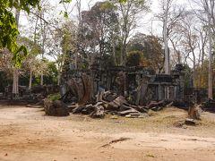 コーケー遺跡に到着しました。  コーケー遺跡は実際はコーケー遺跡群といってプラサットトムと呼ばれる7段ピラミッド型寺院を中心に30以上の祠堂や貯水池跡等の遺跡が残っています。 今回はその中のプラサットトムとプラサットプラム(五つの寺院)に行きます。