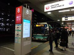 初めて羽田国内線ターミナルに到着し、無料連絡バスで国際線ターミナルへ。