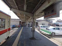 竜ヶ崎駅のホームは頭端式。 前の方に歩いて行くと改札口がある。