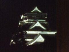 バスを降りたところからは ライトアップされた熊本城も見ることができました。
