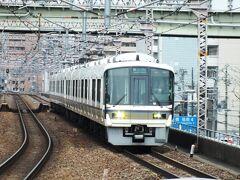 大和路快速下り奈良方面行。環状線西側区間は、特急はるかやくろしお、阪和線快速や関西線快速と様々な電車が走る。