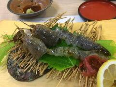 5/3 約1年半ぶりの福ずし。まずは、生しゃこの刺身。ここでしか食べられません。感動的な甘さです。