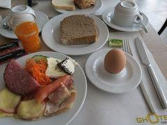ホテルの朝食 残念ながら、3日間ほぼ同じメニュー