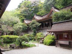 第72靡、水分神社本殿。本殿と拝殿が中庭式に繋がっており、本殿が三連結した珍しい形。重要文化財、世界遺産の構成資産。豊臣秀頼が立て直したとの事。元々は金峯神社の近くにあったそうです。