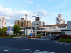 松江駅を通過します。