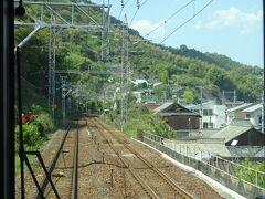 山陽本線を行く。 朝自宅を出発して、初めて乗る電車、かつ複線区間だったりする。
