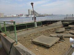 神戸震災の跡