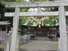 つぎはちょっと離れた金倉寺へ 途中にあった神社  木熊野神社 だそうです。