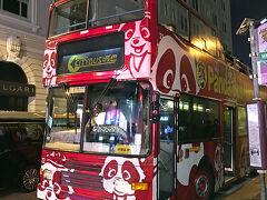 オープントップバスのツアーに参加しました。