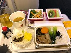 JALの帰りの機内食です。  2泊3日の香港、短い時間でしたが楽しめました。