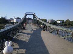 アイゼルナー橋という所にやって来ました。 鉄の橋です。