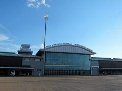 ザンビアのリビングストン空港に到着いたしました。