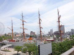 その後は帆船日本丸を見に行った後、