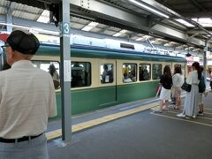 初めて江ノ電に乗りました~ヾ(^v^)k