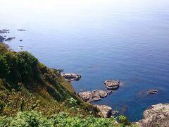 海岸線ドライブ  西保海岸展望台からの景色