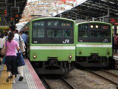新今宮に到着 201系電車