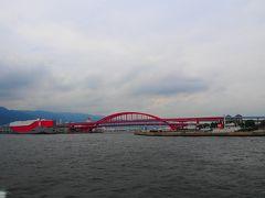 真っ赤な神戸大橋です。 日本初の2階建ての橋なんですって!!