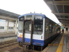 13:10 穴水駅を出発       私達は能登中島駅まで乗車予定。
