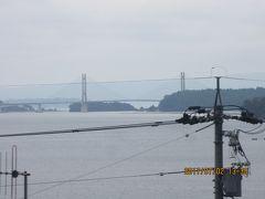 能登島とを結ぶ橋。  舞鶴のクレイン橋に似ている気がする。