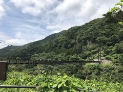 帰りの電車まで時間があるので、近くにある鬼怒楯岩大吊橋へ行きました。 駅から徒歩約10分と、アクセスしやすい場所にあります。