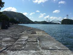 ●立派な埠頭  さすがに風格を感じるが、130年前に作られたとは思えない立派な埠頭。