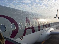 今回は、カタール航空を使用しました。 噂どおり快適なそらの旅