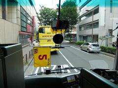 上野駅 浅草口に有る はとバス専用駐車場     集合は 午前7時10分でした  私たちの席は 最前列 1番 2番です    見晴らし 最高