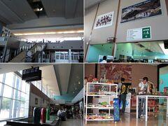 [ハリー・ムワンガ・ナンブラ国際空港(LVI)]  上2枚:出発エリア 下2枚:制限エリア  小規模ながら制限エリアにはカフェや土産物店あり。 ヨハネスブルグやルサカ行きなど4便の出発時間が近い為、人は多いです。