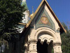 聖ニコライ・ロシア教会。 ここも内部の撮影が禁止で(涙)。 イコンがたくさん!