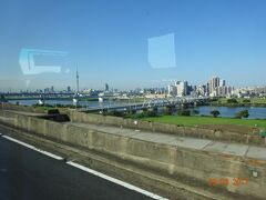 東京スカイ・ツリーが見える。