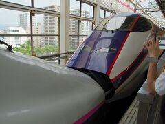 乗った新幹線は「やまびこ・つばさ」  福島でつばさを切り離しします。