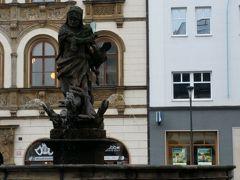 ホルニー広場に立つヘラクレスの噴水 1688年に造られたオロモウツ最古の物。