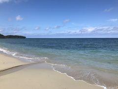 田皆岬から車で30分ほどのところにある、沖永良部で一番綺麗だというワンジョビーチ。 真っ白な砂浜に真っ青な海!