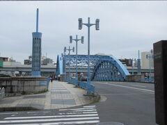 駒形橋前を通って更に南下