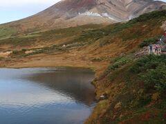ロープウェイを降りて、遊歩道を時計回りに歩きました 姿見の池あたりは既に紅葉のピークは終わっていました