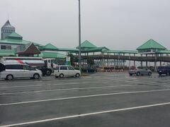 熊本港に到着です。辛島町からゆっくり走って45分程でした。
